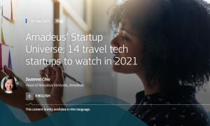 「2021年に注目すべきトラベルテックスタートアップ14社」に当社が選ばれました!